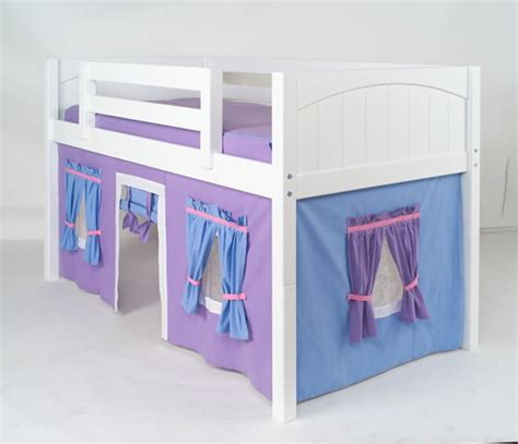 loft bed curtains maxtrix purple light blue curtain for low loft and bunk bed