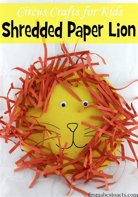 shredded paper crafts circus crafts for shredded paper from abcs