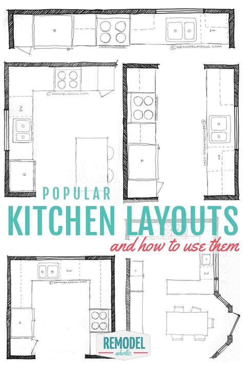 how to design a kitchen layout free remodelaholic popular kitchen layouts and how to use them