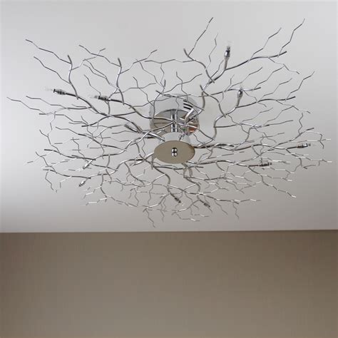 Branch Light Fixture by Ceiling Lamp Tree Light Chrome Halogen Branch New