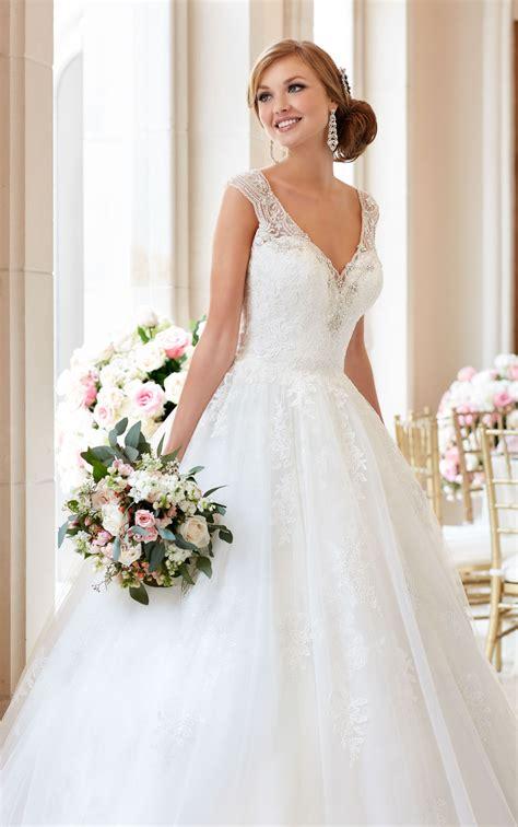 wedding gown with gown wedding dress with v neckline stella york