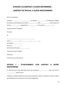 Modification Du Contrat De Travail En by Avenant Au Contrat De Travail Mod 232 Le D Avenant Legalplace