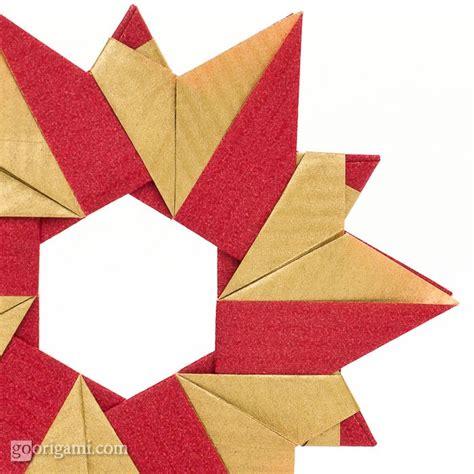 how to make a origami wreath origami wreath by sinayskaya go origami