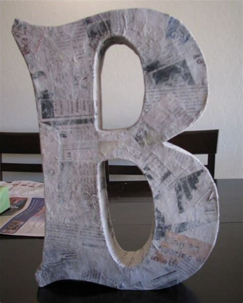 paper mache craft ideas 25 best ideas about paper mache letters on