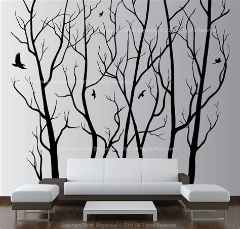 tree sticker wall decor large wall decor vinyl tree forest decal sticker
