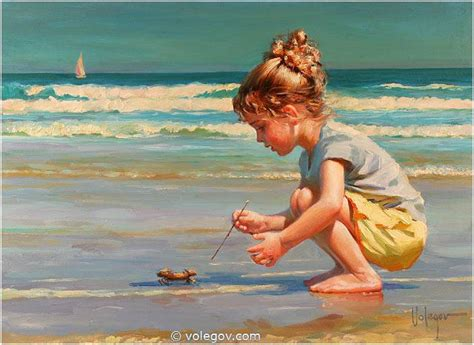 with paint volegov meeting with crab painting