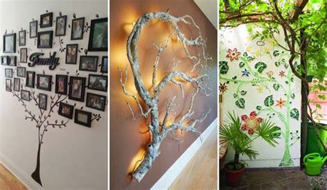 home decor ideas for walls 30 fantastic wall tree decorating ideas that will inspire