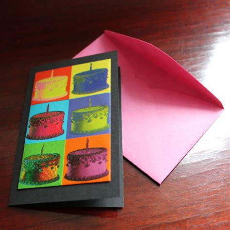 how to make a birthday card with paper handmade birthday cards using gift wrap loulou downtown