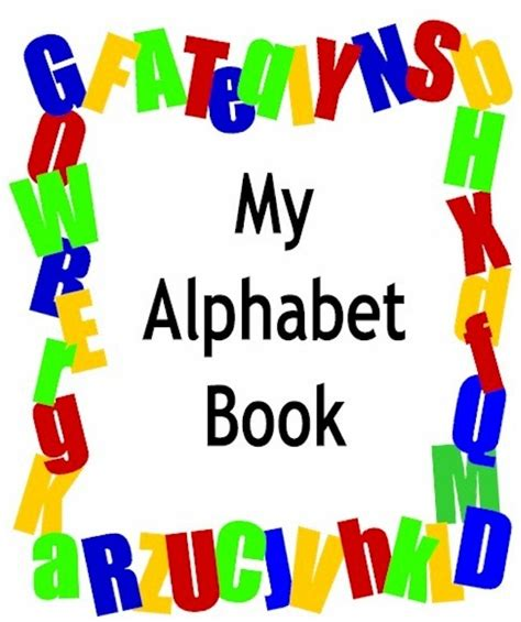 alphabet picture book 5 best images of printable alphabet book cover printable