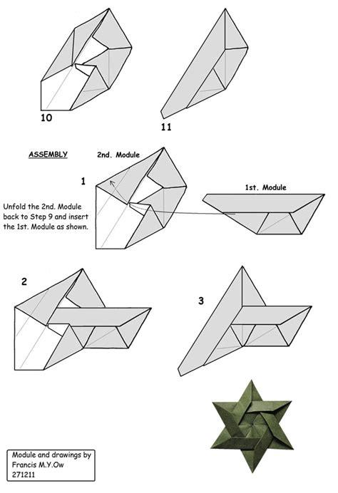 origami of david francis ow s origami diagrams 6 of david