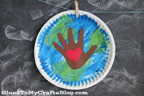 and crafts paper plate earth day kid craft glued to my crafts