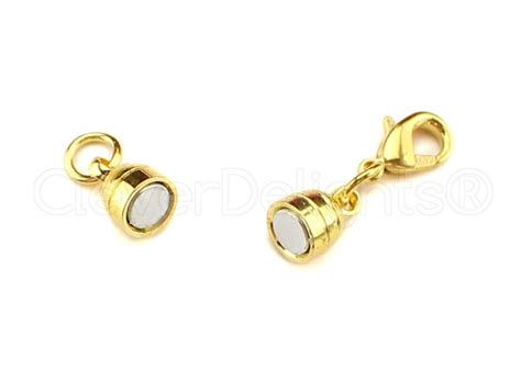 jewelry clasps 8 magnetic jewelry clasps capsule style gold color