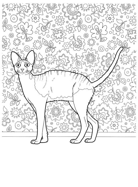 cat for adults cat mosaic coloring coloring pages