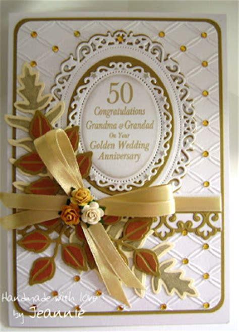 golden wedding cards to make jeannie s crafty bits golden wedding anniversary