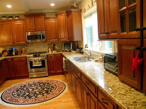 Cherry Kitchen Cabinets With Granite Countertops custom santa cecilia granite kitchen countertops the