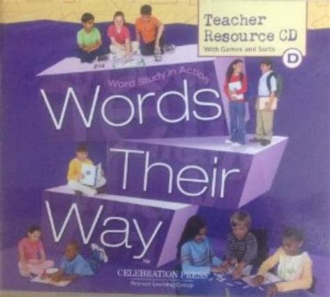 words their way word study for phonics vocabulary and spelling 6th edition words their way series words their way resource cd level d pc mac cd