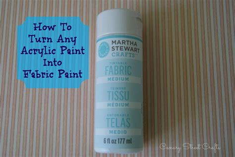 acrylic paint in fabric how to turn any acrylic paint into fabric paint