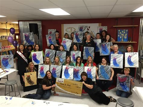 paint with a twist rockwall painting with a purpose event raises funds for in