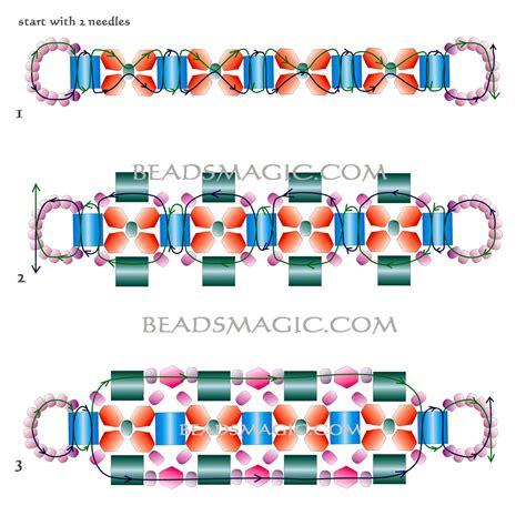 free beaded bracelet patterns free pattern for beaded bracelet fabiana with tila