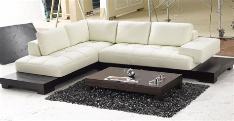 modern lounge sofa white leather low profile sectional chaise lounge sofa bed