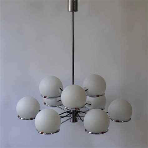 glass globes for chandeliers murano chandelier with nine glass globes for sale at 1stdibs