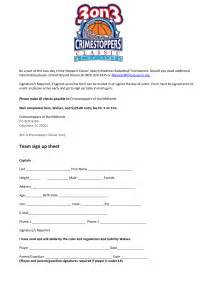 basketball sign up sheet template