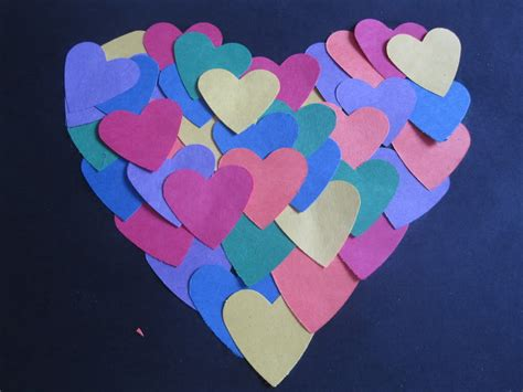 paper hearts craft paper hearts crafts activities no time for flash cards