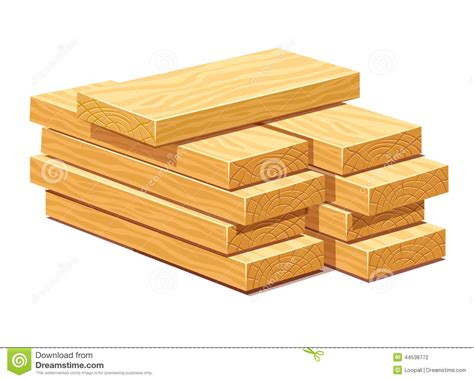 timberline woodworking pile of wooden timber planks stock illustration image