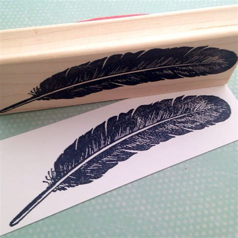 feather rubber st large feather rubber st 5837 from 100proofpress on etsy