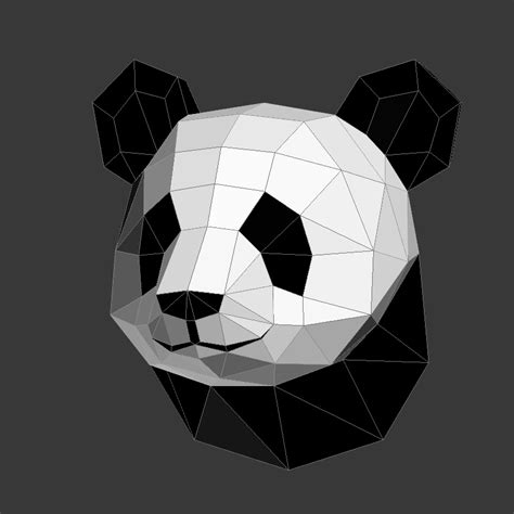 paper craft panda papercraft panda on behance
