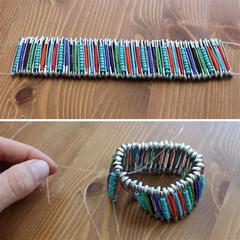 how to make safety pin jewelry wonderful diy beaded safety pin jewelry