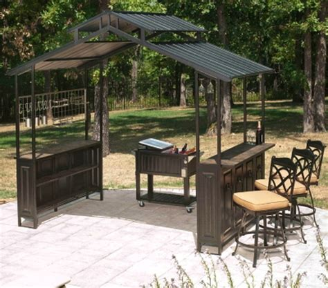 outdoor patio grill gazebo new large steel frame grill gazebo outdoor bar vented