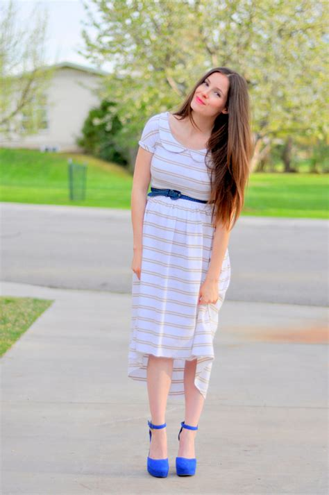 knit dress tutorial maternity or non maternity striped knit tapered dress