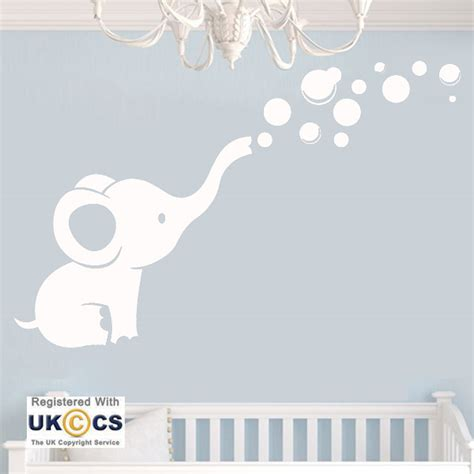 nursery wall stickers for baby boy animal elephant nursery boys wall stickers