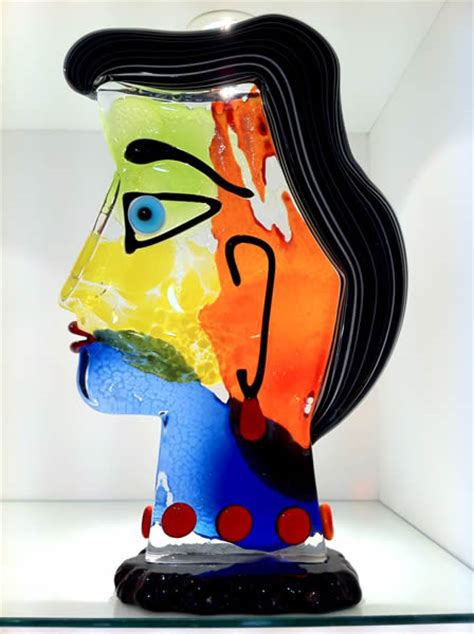 picasso glass paintings glass picasso sculptures murano picasso sculptures in
