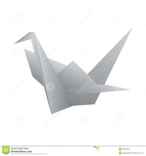 origami define free coloring pages vector origami swan bird stock vector