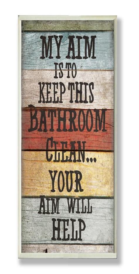 25 best ideas about bathroom signs on small