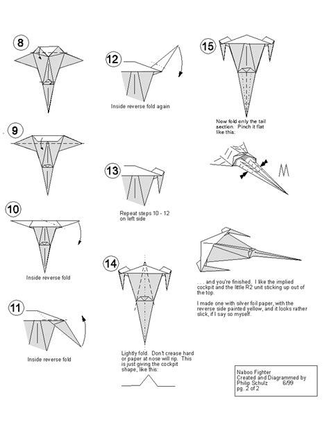 easy origami wars extremegami how to make a origami naboo starfighter