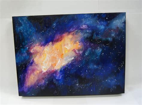 acrylic painting a galaxy home original acrylic galaxy painting on wood panel