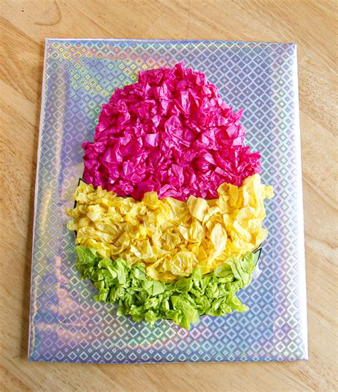 paper easter egg crafts preschool crafts for shining tissue paper easter