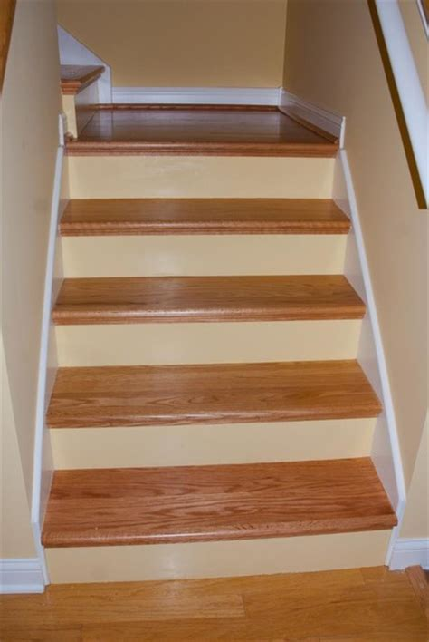 Remodeled Bathrooms Ideas diy red oak staircase remodel traditional staircase