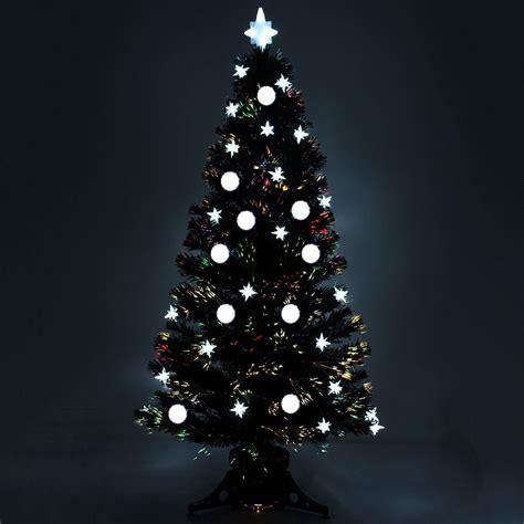 6ft black fibre optic tree 5ft 6ft black pre lit fibre optic tree with led