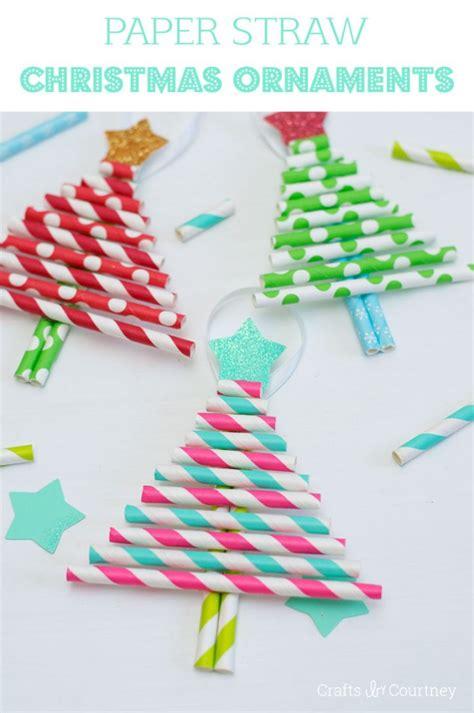 paper ornaments crafts diy ornaments pretty paper straw trees