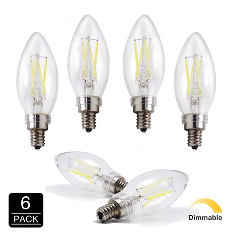 led chandelier bulbs dimmable led 6500k daylight 40w equivalent dimmable cool chandelier