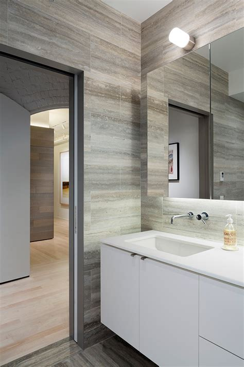 modern gray tile bathroom grey travertine tile bathroom modern with gray travertine