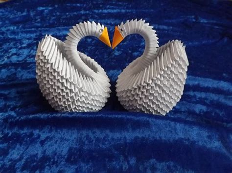 3d origami swan for sale 3d origami 2 swans swan for wedding table