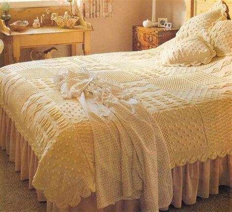 knitted bedspread patterns free knitting pattern heirloom aran bedspread cushions knit