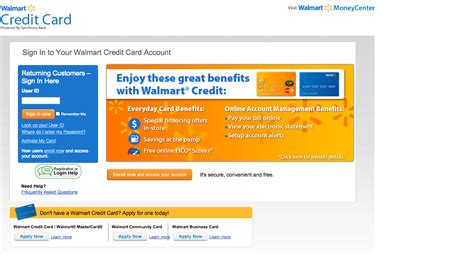 make a payment on my walmart credit card walmart credit card login make a payment