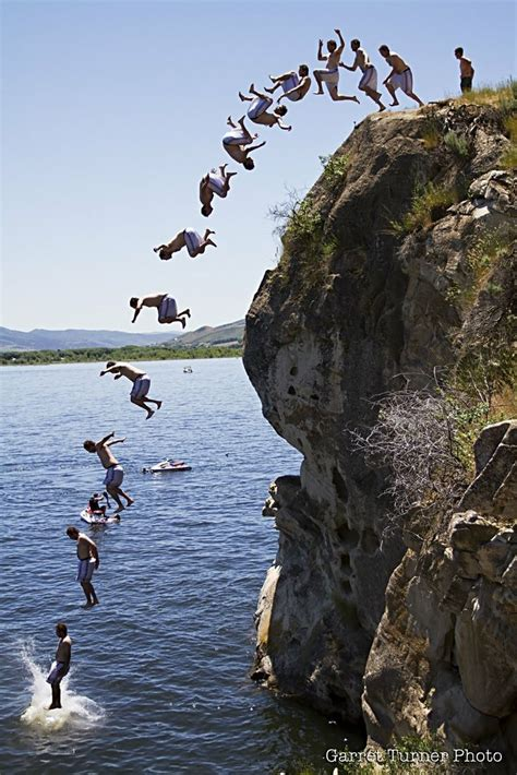 1000  images about Cliff Jumping on Pinterest   Lakes, Summer and Waimea bay