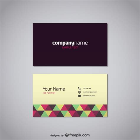 visiting card free business card vector free template vector free
